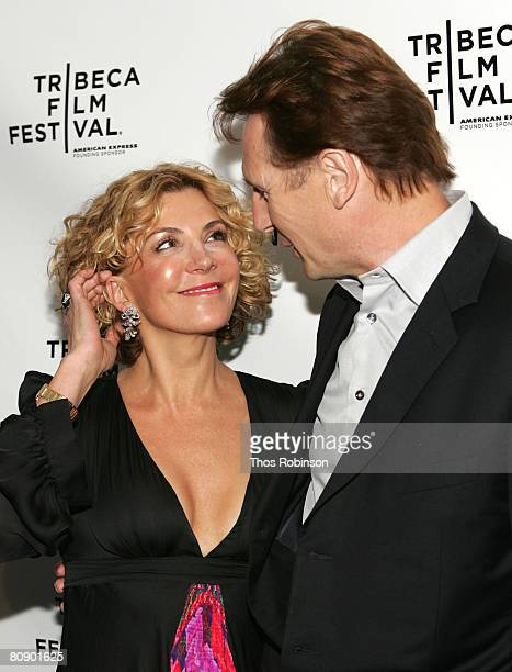 Actor Liam Neeson and Actress Natasha Richardson arrive at the Chanel Dinner held at the Greenwich Hotel during the 2008 Tribeca Film Festival on...