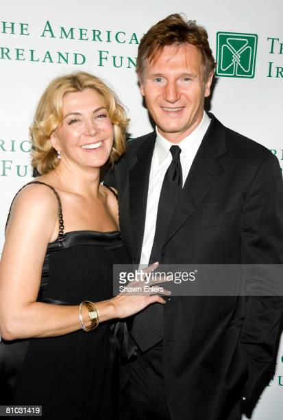 Actor Liam Neeson and actress Natasha Richardson attend the 33rd Annual American Ireland Fund Gala at The Tent at Lincoln Center on May 08 2008 in...