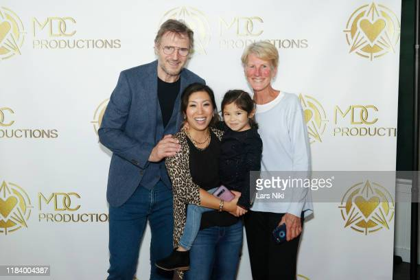 Actor Liam Neeson and MDC Productions founder Meagan Celeste attend the MDC Productions' 3rd Annual Face Off to Fight Cancer at the Sky Rink at...