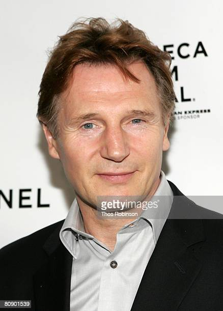 Actor Liam Neeson arrives at the Chanel Dinner held at the Greenwich Hotel during the 2008 Tribeca Film Festival on April 28 2008 in New York City