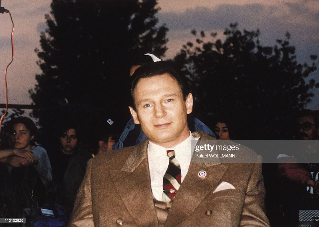 The Schindler List' with E.Schindler, a real heroin of Spielberg film in Argentina on August 01, 1993. : News Photo