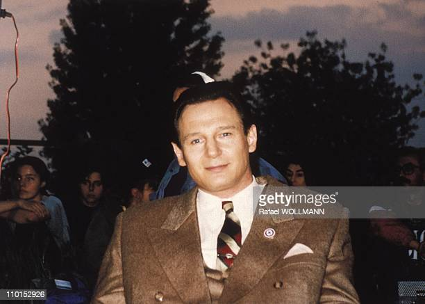 Actor Liam Neeson as O Schindler in SSpielberg's film in Argentina on August 01 1993