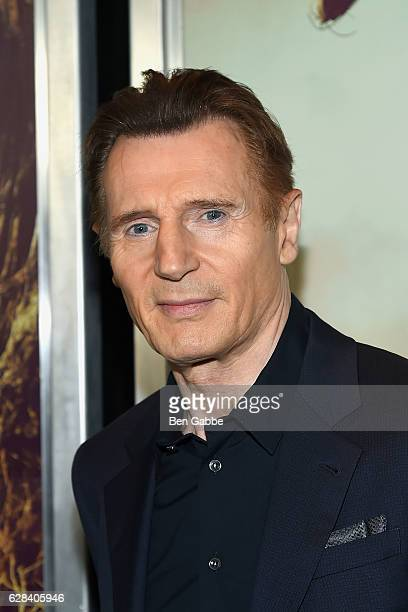 Actor Liam Neeson attends 'A Monster Calls' New York Premiere at AMC Loews Lincoln Square 13 theater on December 7 2016 in New York City