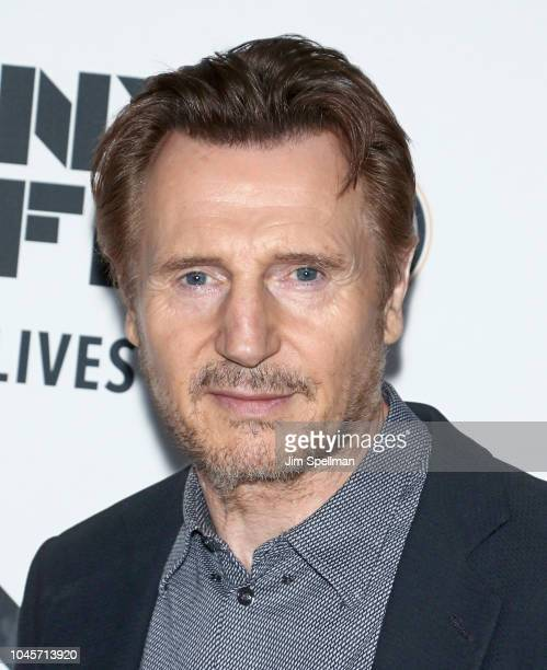 Actor Liam Neeson attends the 56th New York Film Festival premiere of The Ballad Of Buster Scruggs at Alice Tully Hall Lincoln Center on October 4...