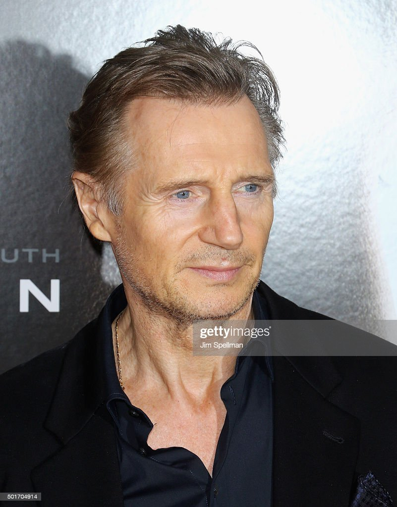 Actor Liam Neeson attends the 'Concussion' New York premiere at AMC Loews Lincoln Square on December 16, 2015 in New York City.