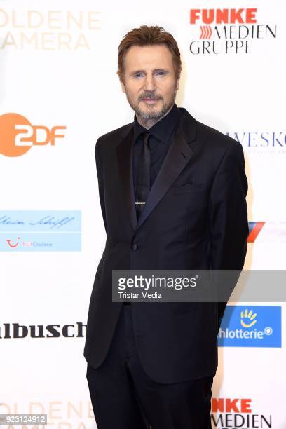 Actor Liam Neeson attends the Goldene Kamera on February 22 2018 in Hamburg Germany