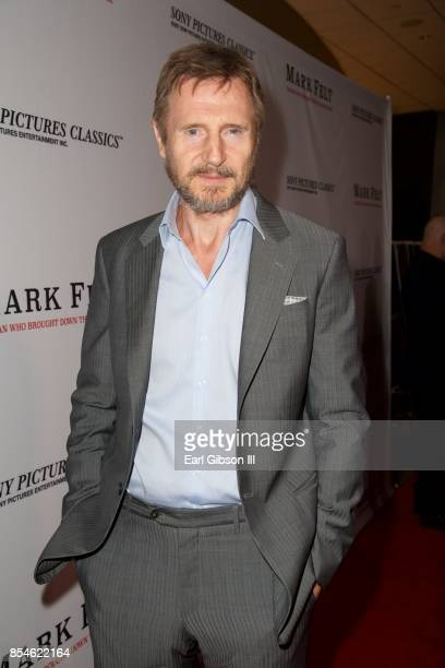 Actor Liam Neeson attends the Premiere Of Sony Pictures Classics' 'Mark Felt The Man Who Brought Down The White House at Writers Guild Theater on...