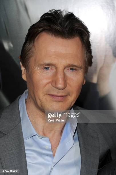 """Actor Liam Neeson attends the premiere of Universal Pictures and Studiocanal's """"Non-Stop"""" at Regency Village Theatre on February 24, 2014 in..."""
