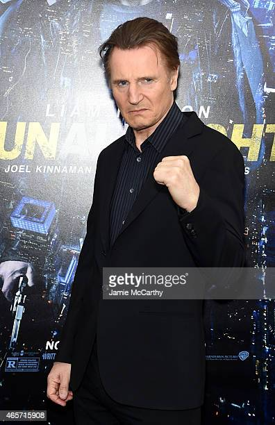 Actor Liam Neeson attends the 'Run All Night' New York Premiere at AMC Lincoln Square Theater on March 9 2015 in New York City