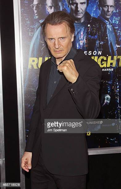 Actor Liam Neeson attends the Run All Night New York premiere at AMC Lincoln Square Theater on March 9 2015 in New York City
