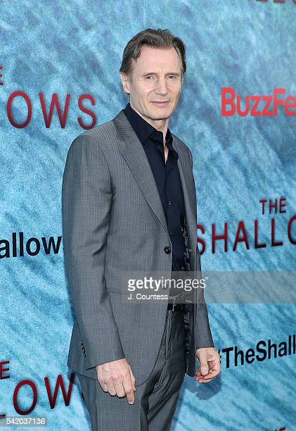 Actor Liam Neeson attends 'The Shallows' World Premiere at the AMC Loews Lincoln Square 13 theater on June 21 2016 in New York City