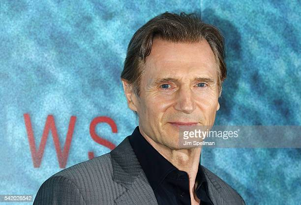 Actor Liam Neeson attends 'The Shallows' world premiere on June 21 2016 in New York City