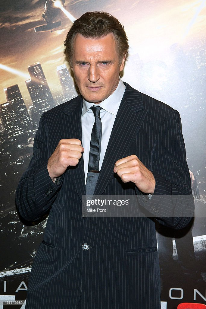 Actor Liam Neeson attends the 'Taken 3' Fan Event Screening at the AMC Empire 25 theater on January 7, 2015 in New York City.