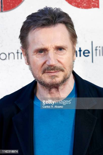 Actor Liam Neeson attends 'Venganza Bajo Cero' photocall at the Villamagna Hotel on July 16, 2019 in Madrid, Spain.
