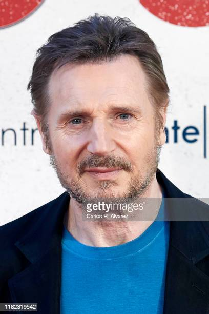 Actor Liam Neeson attends 'Venganza Bajo Cero' photocall at the Villamagna Hotel on July 16 2019 in Madrid Spain