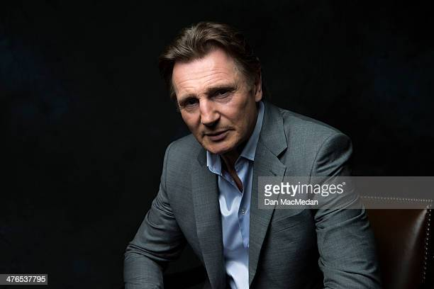 Actor Liam Neeson is photographed for USA Today on February 24 2014 in Los Angeles California