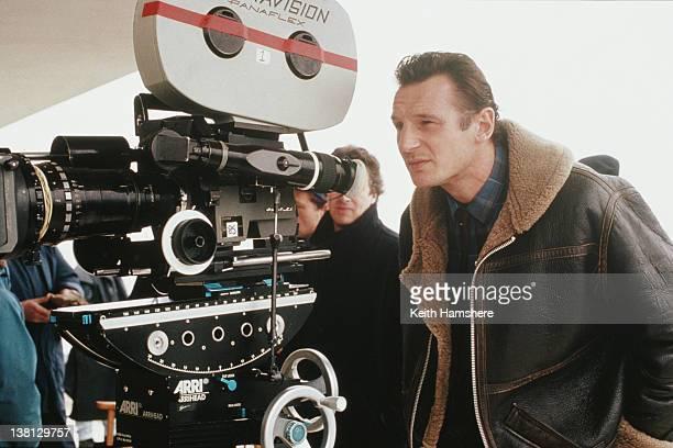 Actor Liam Neeson on the set of the thriller 'Under Suspicion' 1991