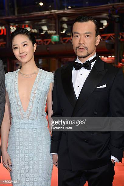 Actor Liao Fan and actress Gwei Lun Mei attend the 'Black Coal Thin Ice' premiere during 64th Berlinale International Film Festival at Berlinale...