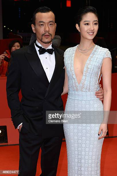 Actor Liao Fun and actress Gwei Lun Mei attend the 'Black Coal Thin Ice' premiere during 64th Berlinale International Film Festival at Berlinale...