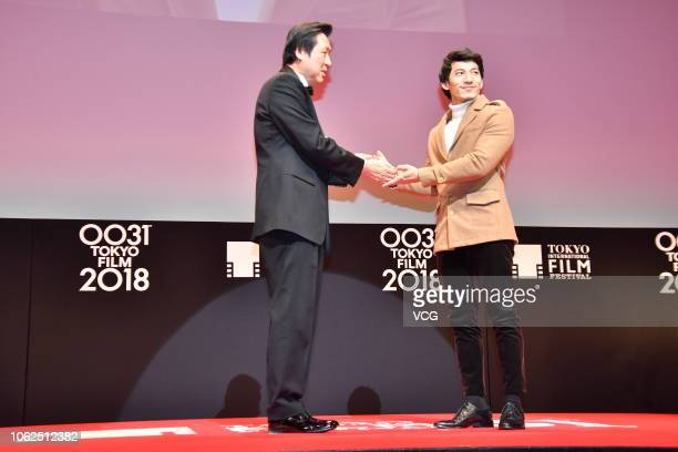 Actor Lien Binh Phat attends the closing ceremony of the 31st Tokyo International Film Festival on November 2 2018 in Tokyo Japan