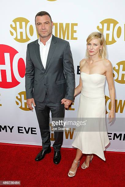 Actor Liev Schreiber and actress Naomi Watts attend at the Showtime 2015 Emmy Eve Party at Sunset Tower Hotel on September 19 2015 in West Hollywood...