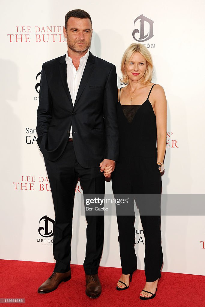 Actor Liev Schreiber (L) and actress Naomi Watts attend Lee Daniels' 'The Butler' New York Premiere at Ziegfeld Theater on August 5, 2013 in New York City.