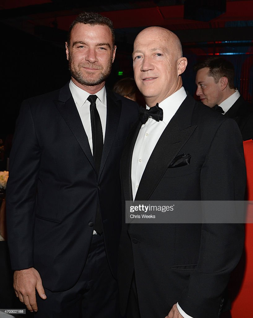 Actor Liev Schreiber (L) and guest attend LACMA's 50th Anniversary Gala sponsored by Christie's at LACMA on April 18, 2015 in Los Angeles, California.