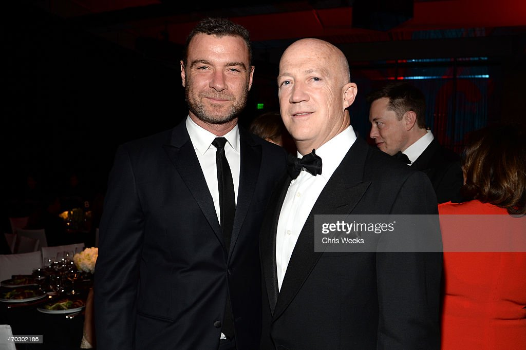 Actor Liev Schreiber (L) and LACMA Trustee Bryan Lourd attend LACMA's 50th Anniversary Gala sponsored by Christie's at LACMA on April 18, 2015 in Los Angeles, California.