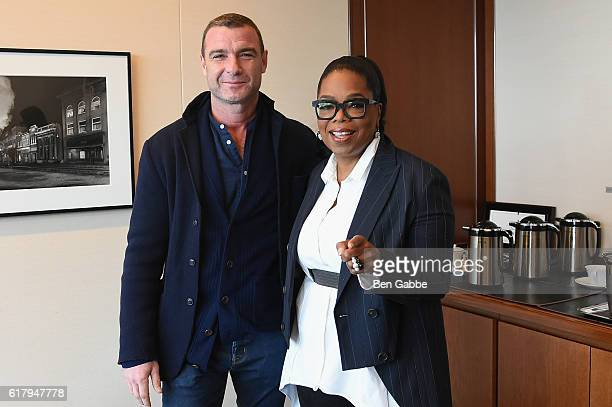 Actor Liev Schreiber and Oprah attend Hearst MagFront 2016 at Hearst Tower on October 25 2016 in New York City