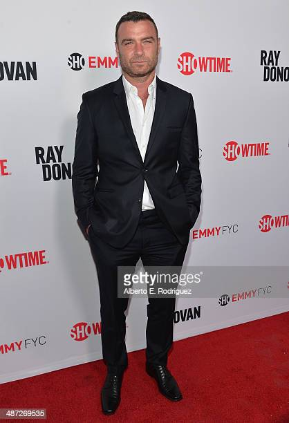 Actor Liev Schreiber arrive to an exclusive conversation with the cast of Showtime's Ray Donovan at Leonard H Goldenson Theatre on April 28 2014 in...
