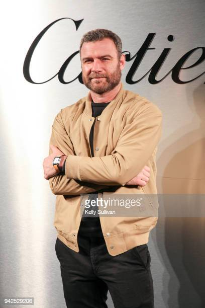 Actor Liev Schreiber arrives on the red carpet for the Santos de Cartier Watch Launch at Pier 48 on April 5, 2018 in San Francisco, California.