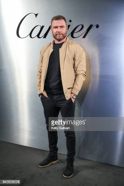 Actor Liev Schreiber arrives on the red carpet for the Santos de Cartier Watch Launch at Pier 48 on April 5 2018 in San Francisco California