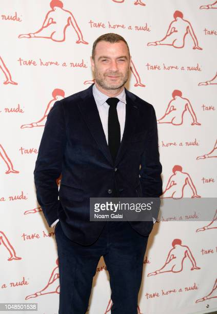 Actor Liev Schreiber attends Take Home A Nude New York Academy of Art benefit at Sotheby's on October 9 2018 in New York City