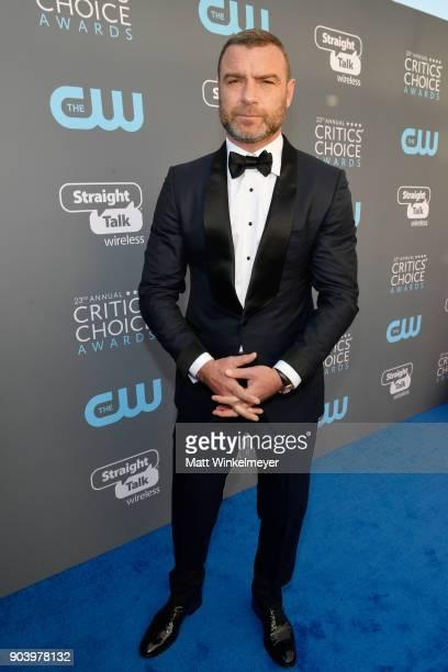 Actor Liev Schreiber attends The 23rd Annual Critics' Choice Awards at Barker Hangar on January 11 2018 in Santa Monica California