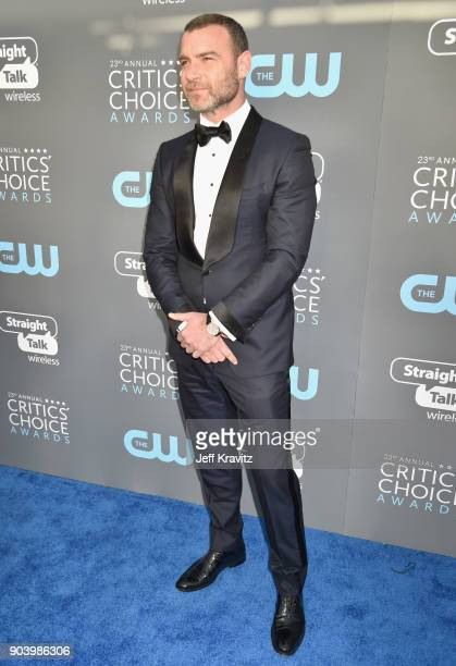 Actor Liev Schreiber attends The 23rd Annual Critics' Choice Awards at Barker Hangar on January 11 2018 in Santa Monica California