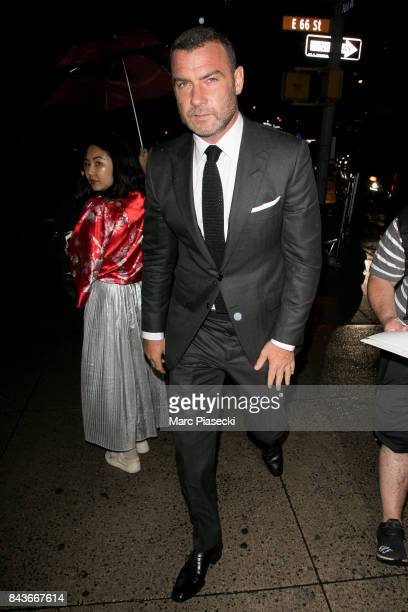 Actor Liev Schreiber attends the Tom Ford Spring/Summer 2018 Runway Show on September 6 2017 in New York City