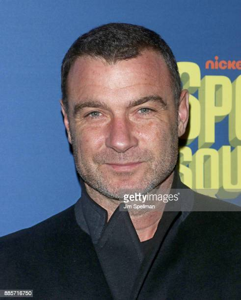 Actor Liev Schreiber attends the'Spongebob Squarepants' Broadway opening night at Palace Theatre on December 4 2017 in New York City