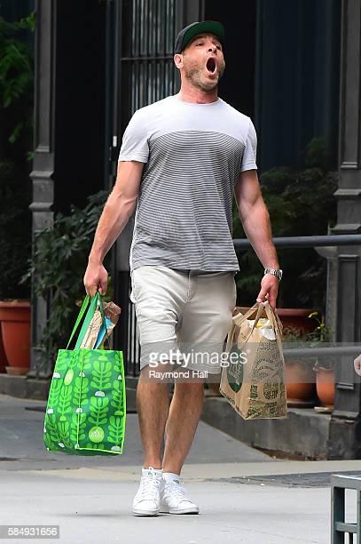 Actor Liev Schreiber is seen walking in Soho on July 31 2016 in New York City