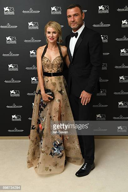 Actor Liev Schreiber poses with his wife Naomi Watts for a portrait in the JaegerLeCoultre lounge before he receives the Visionary Talent Award next...