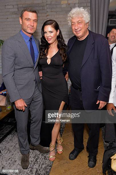 Actor Liev Schreiber producer Christa Campbell and producer Avi Lerner at The Bleeder TIFF party hosted by GREY GOOSE Vodka at Storys Building on...