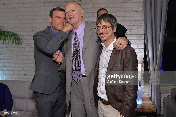 Actor Liev Schreiber, protagonist Chuck Wepner and director Philippe Falardeau at The Bleeder TIFF party hosted by GREY GOOSE Vodka at Storys...
