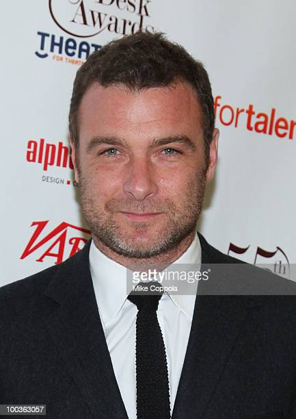 Actor Liev Schreiber receives an award at the 55th Annual Drama Desk Awards at the FH LaGuardia Concert Hall at Lincoln Center on May 23 2010 in New...
