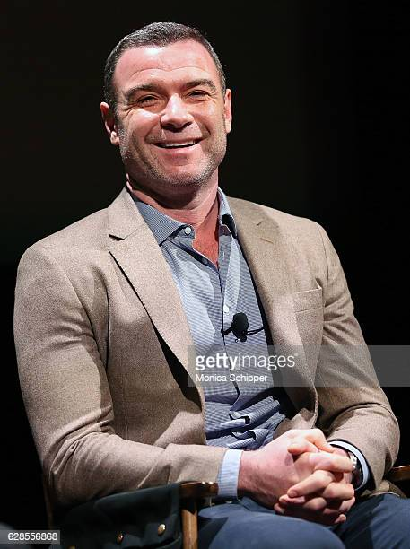 Actor Liev Schreiber speaks on stage at the SAG AFTRA Foundation And BroadwayWorldcom Conversations On Broadway Richard Ridge Liev Schreiber at...