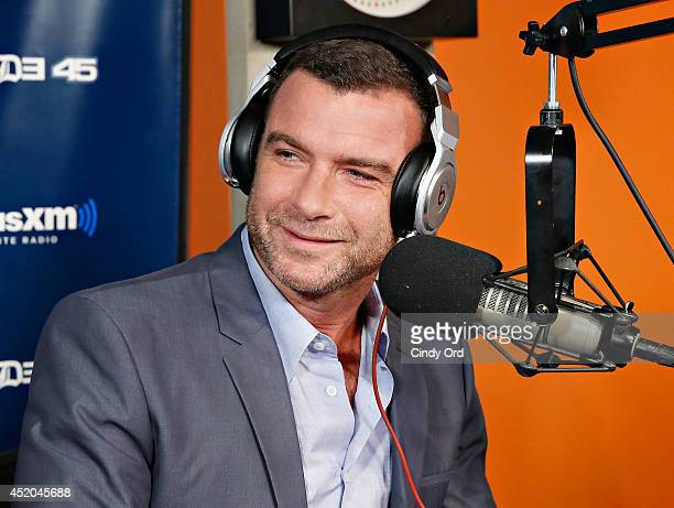 Actor Liev Schreiber visits 'Sway in the Morning' with Sway Calloway on Eminem's Shade 45 at the SiriusXM Studios on July 11 2014 in New York City