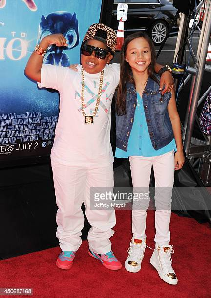 Actor Lil' PNut and actress Breanna Yde attend the premiere of 'Earth to Echo' during the 2014 Los Angeles Film Festival at Regal Cinemas LA Live on...
