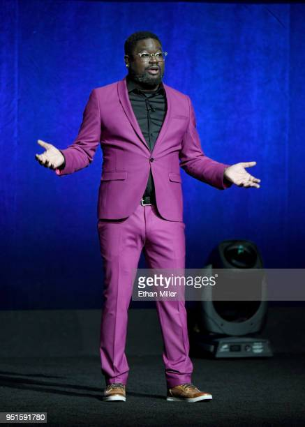 Actor Lil Rel Howery speaks onstage during CinemaCon 2018 Lionsgate Invites You to An Exclusive Presentation Highlighting Its 2018 Summer and Beyond...