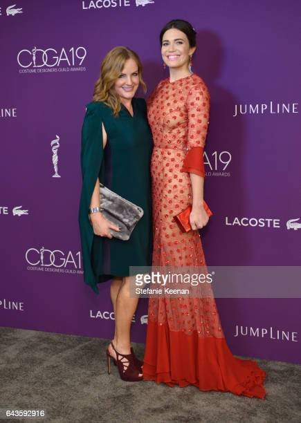 Actor Lili Mirojnick and host Mandy Moore attend The 19th CDGA with Presenting Sponsor LACOSTE at The Beverly Hilton Hotel on February 21 2017 in...