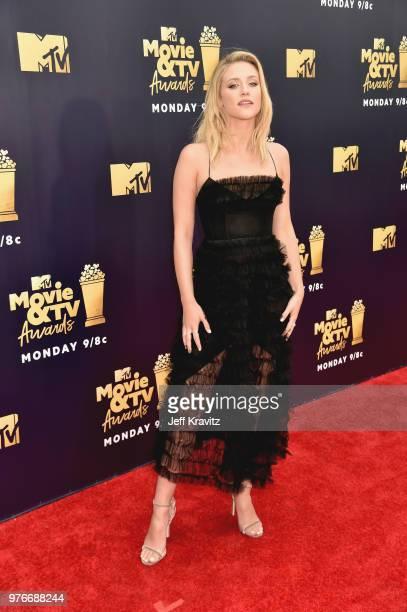 Actor Lili Reinhart attends the 2018 MTV Movie And TV Awards at Barker Hangar on June 16 2018 in Santa Monica California