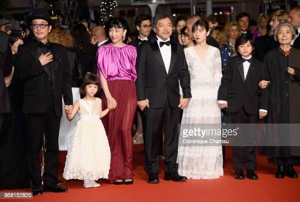 Actor Lily Franky actress Miyu Sasaki actress Sakura Andô director Hirokazu Koreeda actress Mayu Matsuoka actor Jyo Kairi and actress Kirin Kiki...