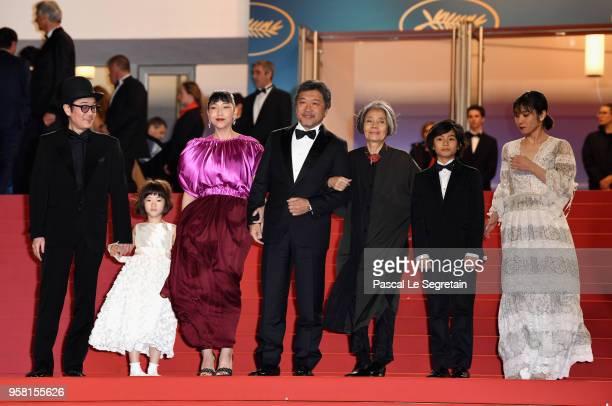 Actor Lily Franky actress Miyu Sasaki actress Sakura Andô director Hirokazu Koreeda actress Kirin Kiki actor Jyo Kairi and actress Mayu Matsuoka...